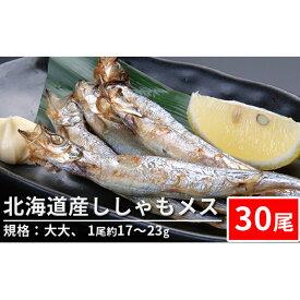 【ふるさと納税】北海道産ししゃもメス(30尾 規格:大大)※1尾約17〜23g 【魚貝類・ししゃも】