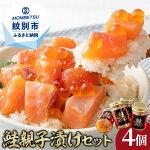 【ふるさと納税】10-43鮭親子漬けセット(4個)