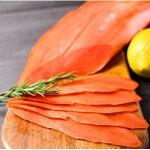 【ふるさと納税】22-29天然紅鮭無添加スモークサーモン半身(スライス4分割)