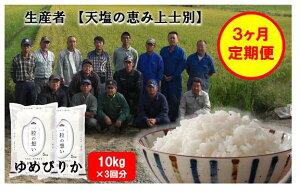 【ふるさと納税】D003【3か月連続お届け】上士別の生産者が作るゆめぴりか5kg×2個(計30kg)