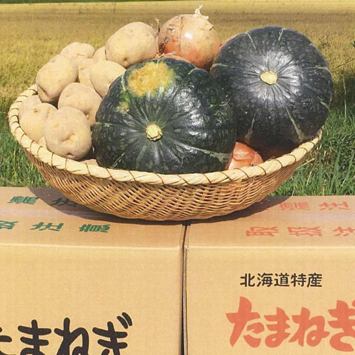【ふるさと納税】A111 野菜詰め合わせ【じゃがいも5kg、玉ねぎ3.5kg、かぼちゃ1玉(2〜2.5kg)】