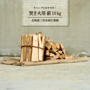 【ふるさと納税】≪キャンプにお勧め!≫キャンプストーブ・焚き火用 薪(広葉樹)約10kg【01120】