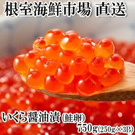 【ふるさと納税】 いくら醤油漬250g×3P(計750g) B-11012