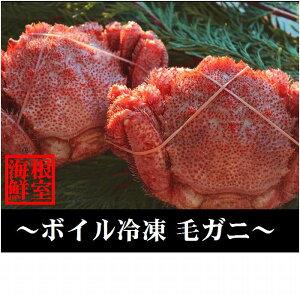 【ふるさと納税】【北海道根室産】毛ガニ5〜6尾(計2kg前後) D-57009