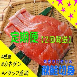 【ふるさと納税】 <定期便>[北海道根室産]秋鮭切り身セット(2回発送) D-59012