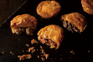 【ふるさと納税】安心やすらぎ共和国 OASIS REPUBLIC -SUNAGAWA BASE- お菓子のほんだ自慢のパイで地域自慢の食材を包んだ『惣菜パイのパイアップセット』 ポークチャップ ジンギスカン ガタ