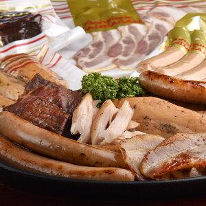 【ふるさと納税】さんだかん燻製6点セット(北海道 肉 加工品 塩ベーコン 100g 粗挽きウィンナー140g プレーンウィンナー140g チョリソー140g ササミスモーク3本 ビーフジャーキー50g)