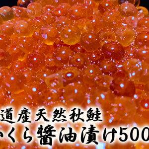 【ふるさと納税】北海道産天然秋鮭 いくら醤油漬け500g 【魚貝類・加工食品】
