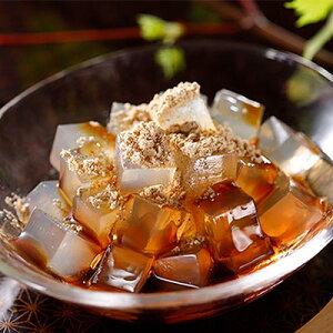 【ふるさと納税】文志郎 磨き水のところてん 黒蜜&きな粉(角切)5箱セット 【加工食品・スイーツ・ところてん・黒蜜・きな粉】