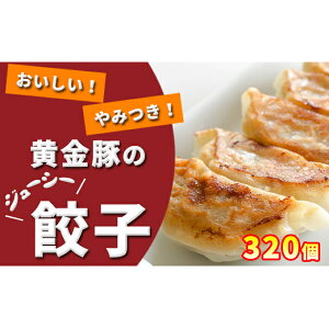 【ふるさと納税】黄金豚のジューシー餃子【320個】 【加工品・惣菜・冷凍・肉の加工品・お肉・豚肉・餃子・冷凍ぎょうざ】