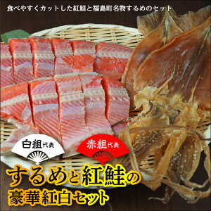 【ふるさと納税】《西川水産》紅鮭切り身とするめのセット FK09-025