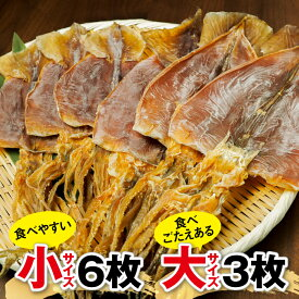 【ふるさと納税】北海道 福島町 大羽するめの詰め合わせ 小6枚と大3枚