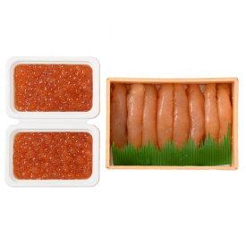 【ふるさと納税】丸鮮道場水産北のハイグレード食品認定の無着色たらこといくらしょうゆ漬けセット(計400g)M41