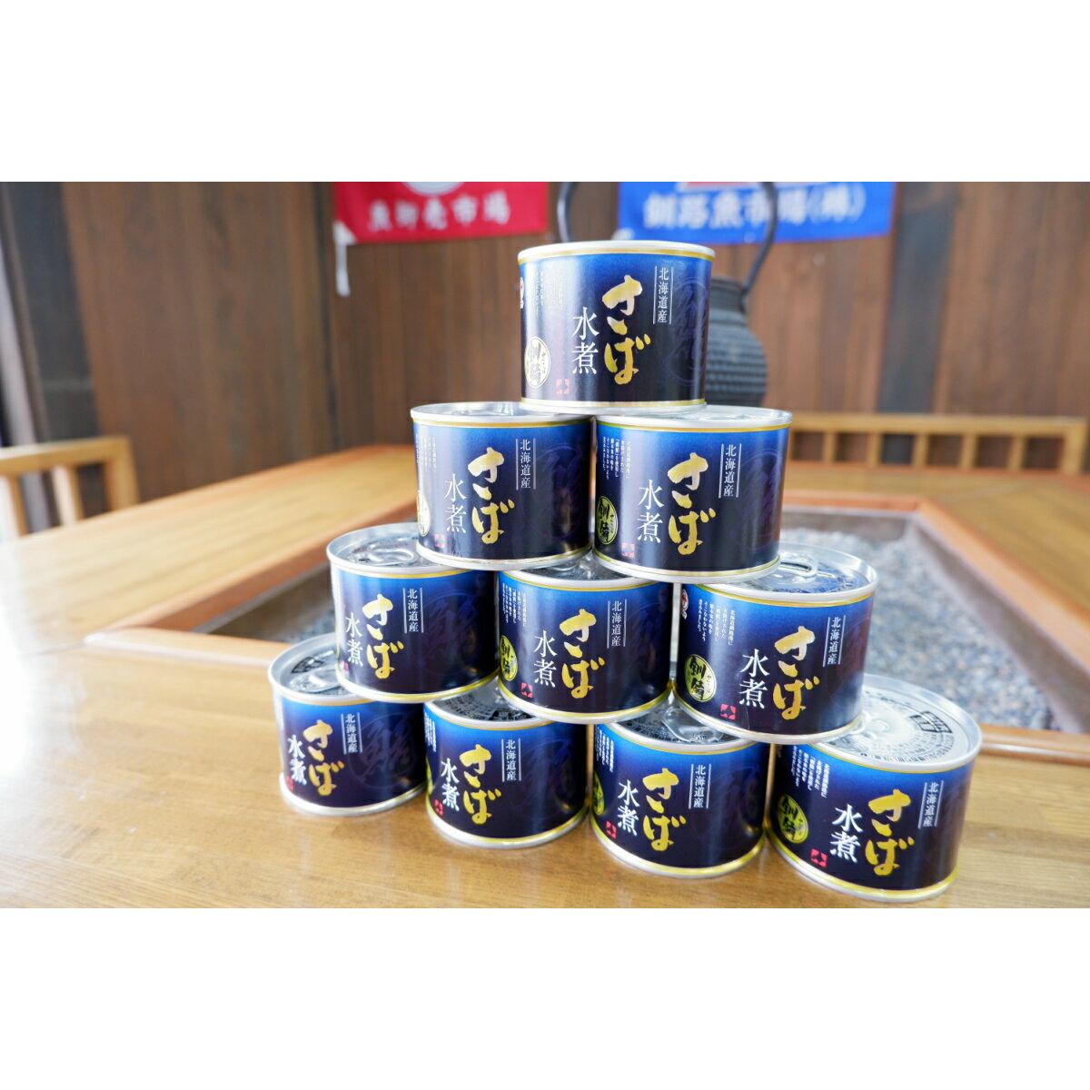 【ふるさと納税】釧之助<さば水煮 10缶セット>