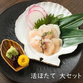 【ふるさと納税】北海道産 町中漁業部 活ほたて(大セット)