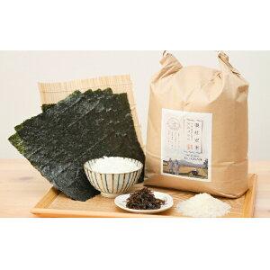 【ふるさと納税】特別栽培米ゆめぴりか5kg&ご飯のおともセット 【米・お米・ゆめぴりか・海苔・のり・魚介類】