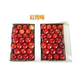 【ふるさと納税】農園厳選さくらんぼ「紅秀峰」2Lサイズ以上600g(品質:ギフト向け) 【果物類・フルーツ・さくらんぼ・チェリー】 お届け:2020年7月15日〜30日頃