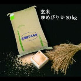 【令和2年度産】【ふるさと納税】 2701 玄米ゆめぴりか30kg×1袋