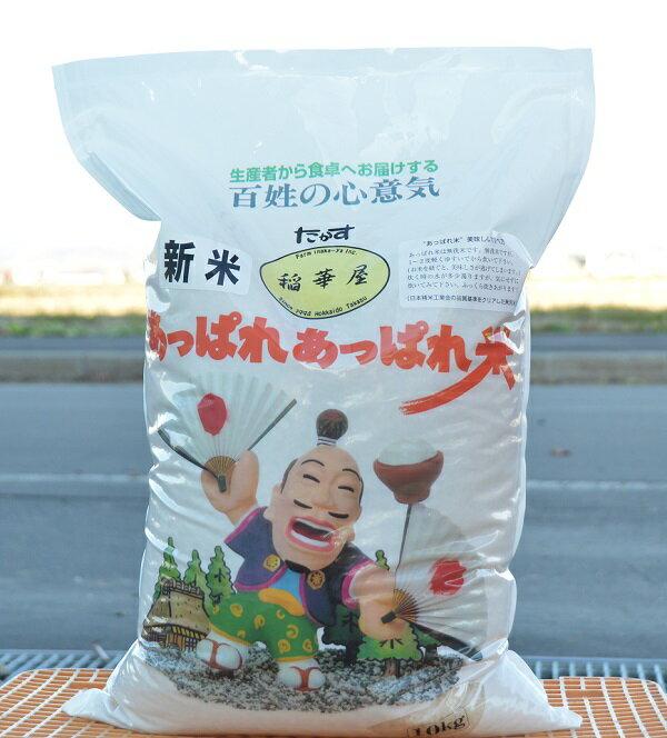 【ふるさと納税】平成30年産 稲華屋のあっぱれあっぱれ米(ゆめぴりか無洗米・10キロ)