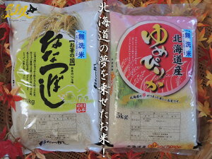 【ふるさと納税】【白米】令和元年産 助安農場のゆめぴりかとななつぼしの無洗米セット(各5kg)