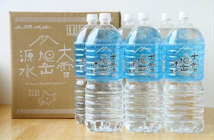 【ふるさと納税】大雪旭岳源水2L×12本(上水道のない町からのお知らせ)