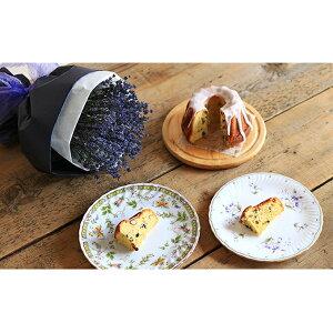 【ふるさと納税】富良野ラベンダーブーケと北海道産お豆の手作りケイクセット 【植物・インテリア・お菓子・ケーキ】