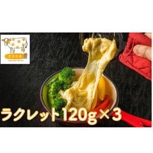 【ふるさと納税】北海道美深町 ラクレット120g×3【北ぎゅう舎】 【加工食品・乳製品・チーズ】