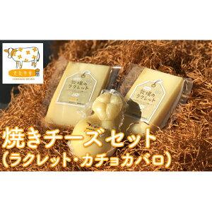 【ふるさと納税】北海道美深町 焼きチーズセット(ラクレット・カチョカヴァロ)【北ぎゅう舎】 【加工食品・乳製品・チーズ】 お届け:2020年1月中旬より順次出荷