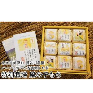 【ふるさと納税】北海道産特別栽培米「風の子もち」300g×9 【餅米・もち米】