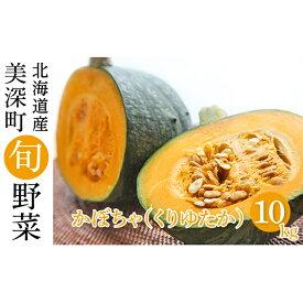 【ふるさと納税】かぼちゃ10kg(くりゆたか)【北海道美深町産】 【野菜・かぼちゃ・カボチャ・南瓜】 お届け:2021年9月中旬〜2021年10月中旬