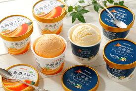 【ふるさと納税】北海道アイスクリームバニラ・メロン各6個セット