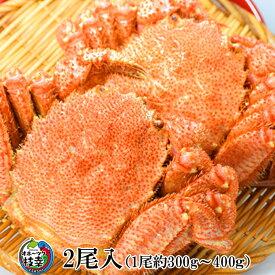 【ふるさと納税】【枝幸毛がに】海洋食品の毛がに 中型(300〜400g)×2尾 海産 毛ガニ カニ 蟹 おせち 【魚貝類・毛カニ・蟹・毛蟹】