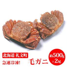 【ふるさと納税】急速冷凍!毛ガニ約500g×2尾 【毛カニ・蟹】