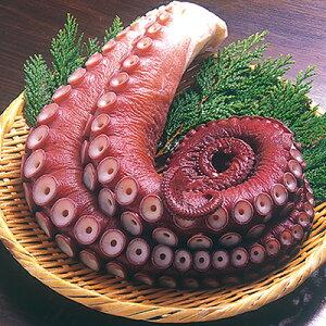 【ふるさと納税】厳寒の礼文島で水揚げされたボイルタコ2本で1kg×2袋 【魚貝類・タコ】
