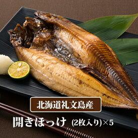 【ふるさと納税】北海道礼文島香深産 開きホッケ(2枚入)×5 【魚貝類・干物・ホッケ・魚貝類・加工食品】