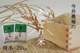 【ふるさと納税】令和2年産 今井農場 あっぱれ米20kg(精米)