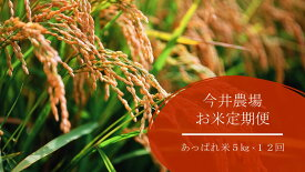 【ふるさと納税】【定期便】今井農場 あっぱれ米5kg×12回(毎月)