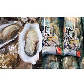 【ふるさと納税】オホーツクサロマ産カキ殻付き2年貝2.5kg・むき身200g×2セット 【魚介類・牡蠣】 お届け:2020年11月〜2021年2月末まで