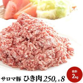 【ふるさと納税】豚ひき肉2kg サロマ豚【オホーツク佐呂間】 【お肉・豚肉】