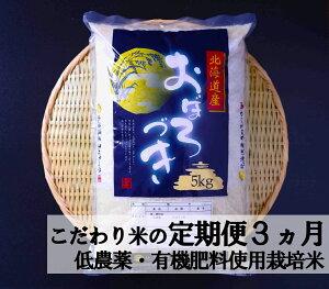 【ふるさと納税】3ヵ月!毎月届く定期便 有機質肥料・低農薬のお米「おぼろづき」10kg《新米》