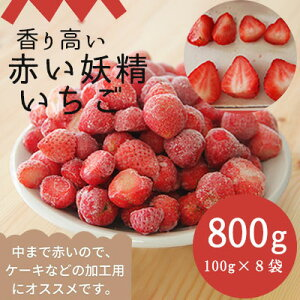 【ふるさと納税】役に立ちます 冷凍カット果物 いちご100g×8袋 【果物類・いちご・苺・イチゴ】