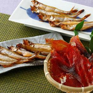 【ふるさと納税】北海道産ししゃもと鮭とばチップ魚々燻 【魚貝類・干物・ししゃも・鮭とばチップ・鮭とば・サケ・さけ・鮭】