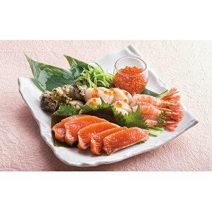 【ふるさと納税】北海道産5種のお刺身セット 【魚貝類・サーモン・鮭・えび・ホタテ・帆立・つぶ貝・いくら醤油・いくら】
