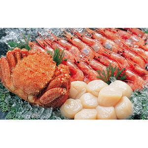 【ふるさと納税】えりも【マルデン厳選】毛がに・帆立・甘えびセット 【蟹・カニ・魚介類・貝・魚貝類・ホタテ・帆立・甘エビ】