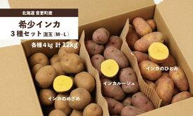 【ふるさと納税】おとふけ産希少インカ3種セット(各種4kg計12kg)