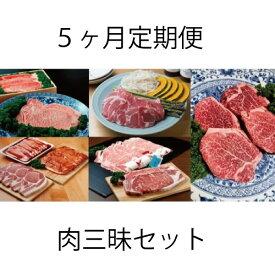 【ふるさと納税】上田の肉三昧セット計6kg以上(5ヶ月定期便)【D-9003】