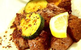 【ふるさと納税】【今だけ限定!】肉屋のプロ厳選!北海道産牛フィレ肉を食べやすいサイズのスクエアカットにしたサイコロステーキ!600g(使いやすい300g×2パック)[A1-18]