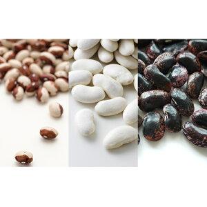 【ふるさと納税】北海道産 3種の高級菜豆セット各500g(とら豆・白花豆・紫花豆) 【豆類・とら豆・白花豆・紫花豆・お豆】