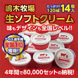 【ふるさと納税】A031-1 牧場の生ソフトクリーム<120ml×14個>
