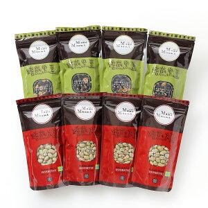 【ふるさと納税】北海道おつまみセット「MameManma焙煎豆」セット(大豆・黒豆)各100g×4袋